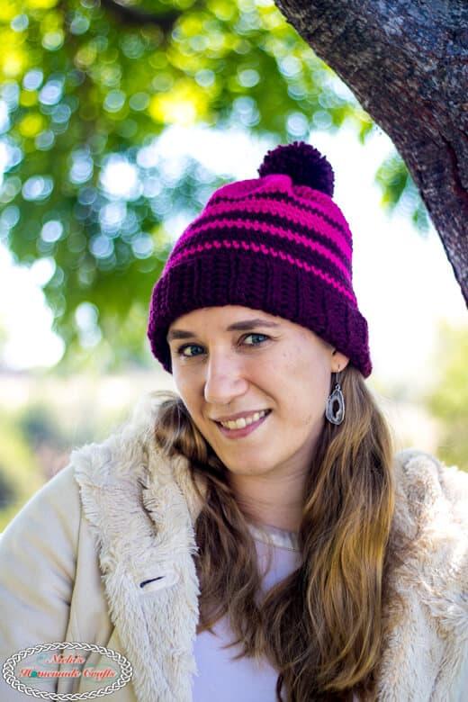 Striped Ombre Hat Crochet Pattern