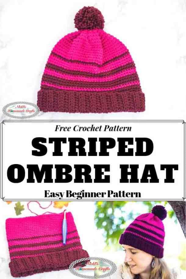 Striped Ombre Hat - a Free Crochet Pattern