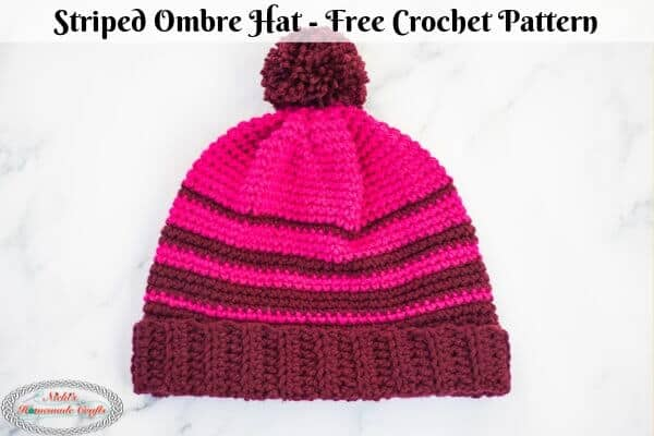 Striped Ombre Hat