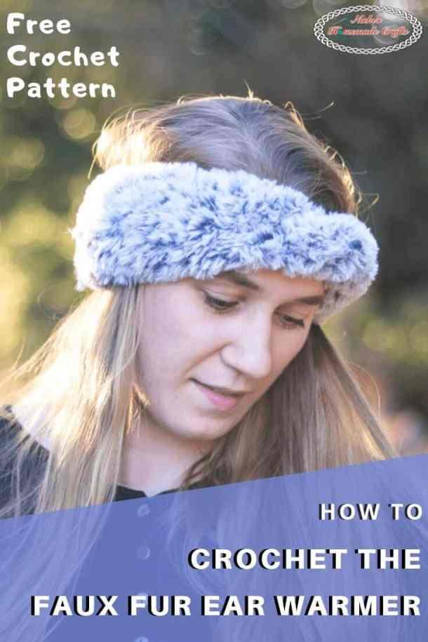 Crochet Faux Fur Ear Warmer Pattern