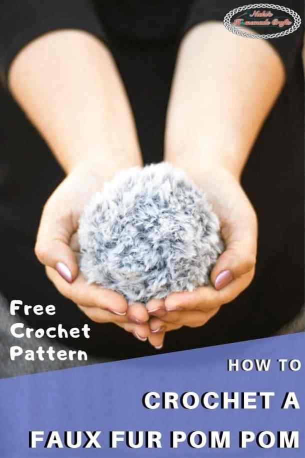 Crochet Faux Fur Pom Pom Pattern Free