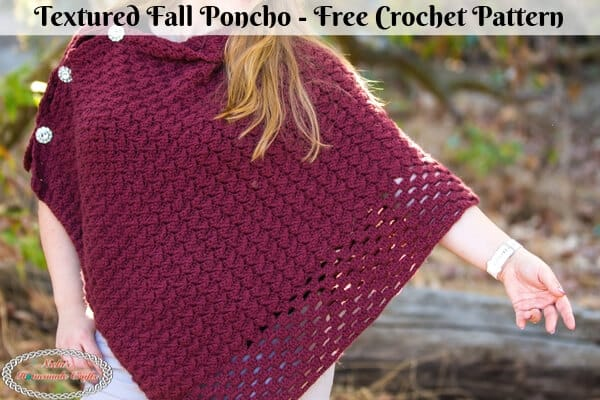 Textured Fall Poncho Crochet Pattern