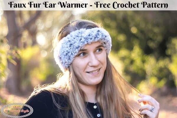Faux Fur Ear Warmer Crochet Pattern Free