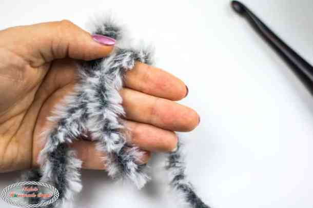 using faux fur yarn for crochet