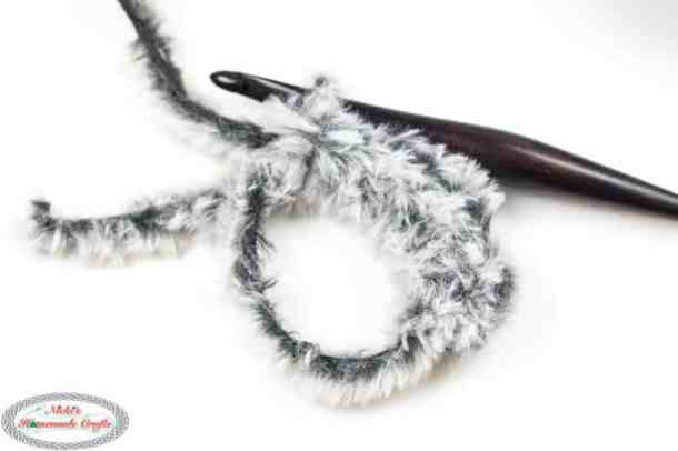 crocheting with faux fur yarn