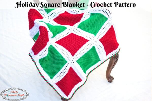 Holiday Square Blanket Crochet Pattern