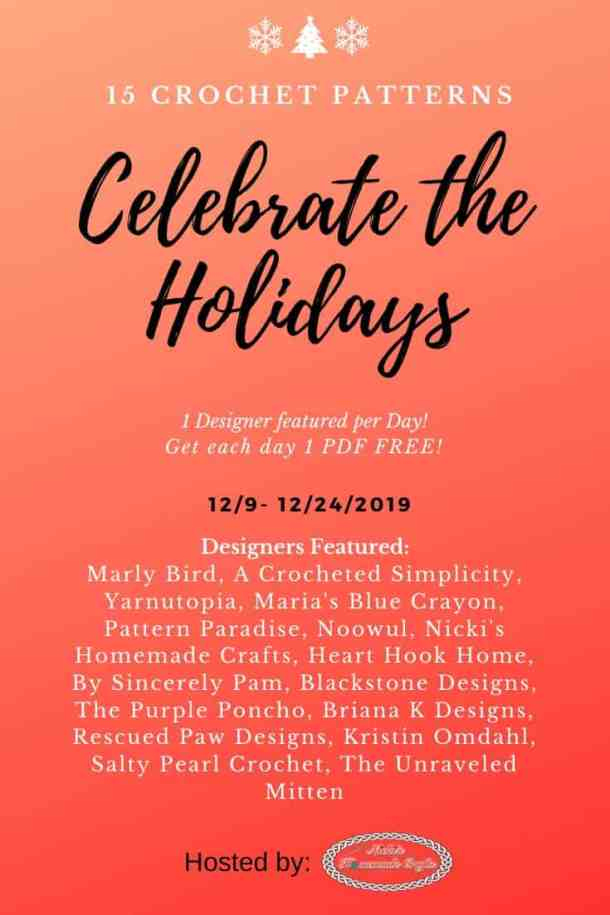 Celebrate the Holidays - Featuring 15 FREE Crochet Pattern PDFs