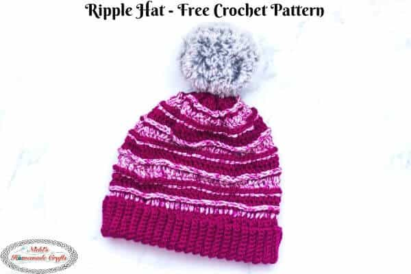 Ripple Hat Free Crochet Pattern