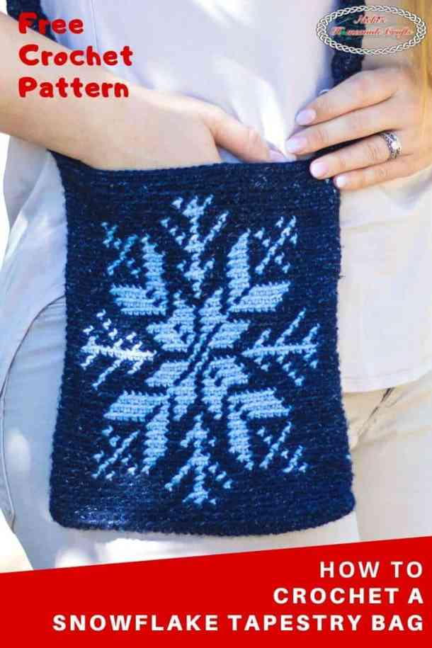 Crochet Snowflake Tapestry Bag
