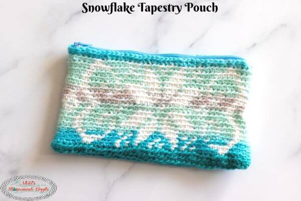 Snowflake Tapestry Pouch