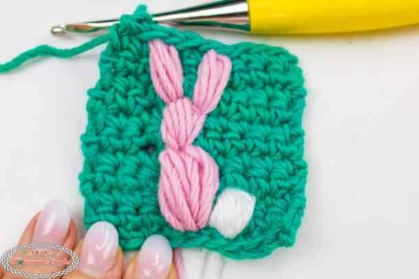 Finished Crochet Bunny Stitch