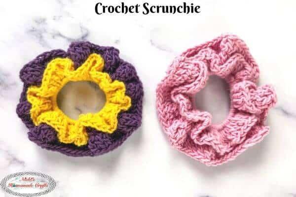 Scrunchie Crochet Pattern Free