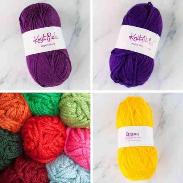 WeCrochet Mighty Stitch and Brava yarn