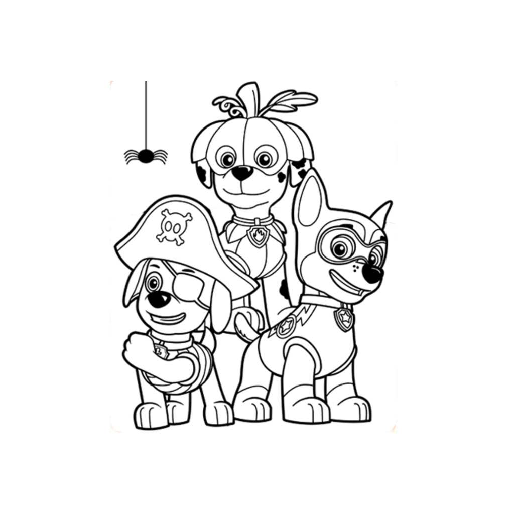 PAW Patrol Halloween: Colouring Pages for Preschoolers