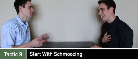 Negotiation Tactic 9: Start With Schmoozing