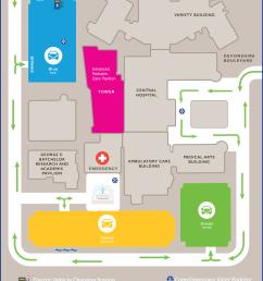 hospital campus map and floorplans [ 1496 x 2020 Pixel ]