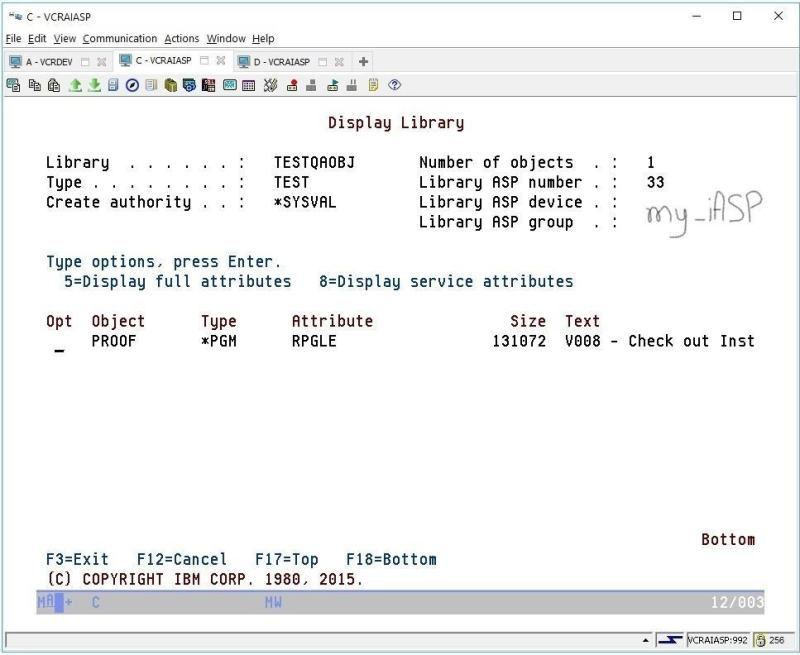 Using TURNOVER in an IBM i iASP Environment 4