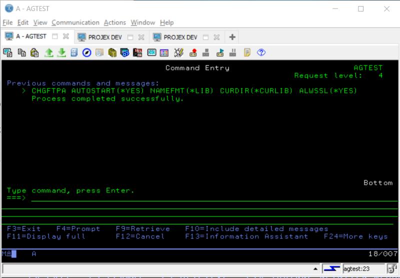 SSL FTP on IBM i