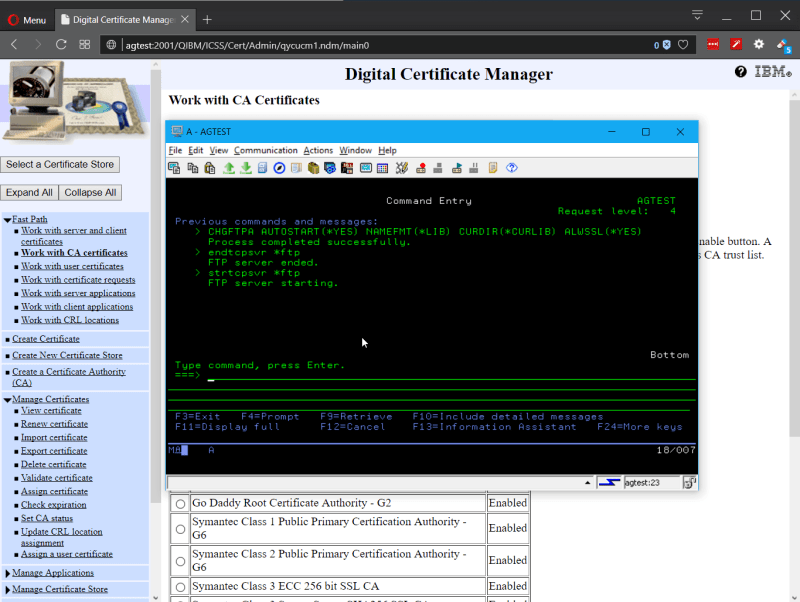 Playing with Secure (SSL) FTP on IBM i Power System 9