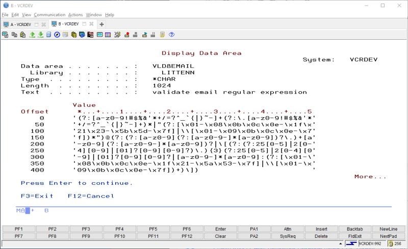 Funky IBM i Email Validation Program using SQL Regex 1