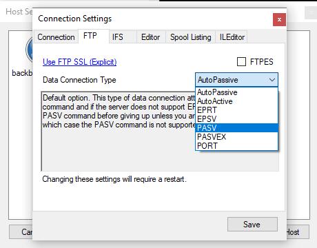 ILEditor connection problem with PUB400 2