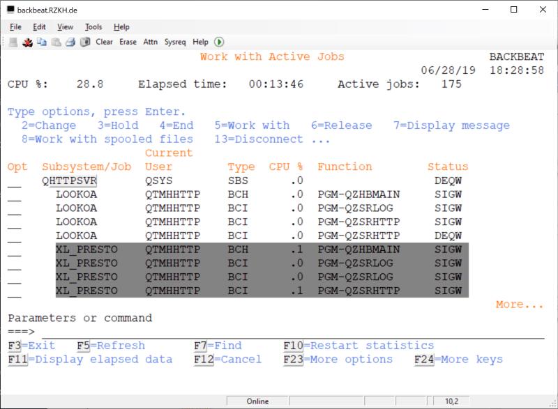 How to rename Fresche (BCD) Presto Library - XL_PRESTO 7