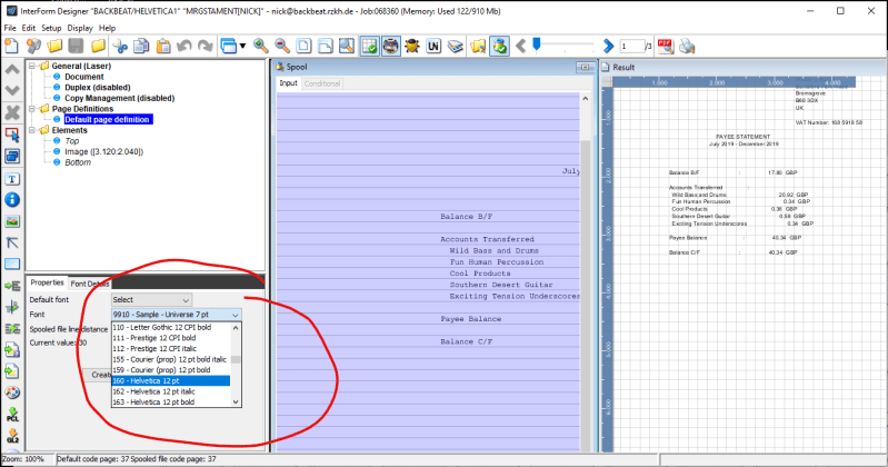 How to install a font in INTERFORM400 1