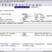 distribute iseries data using sql