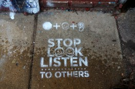 stop look listen to others