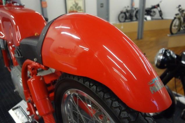 Parilla 1962 Corsa 125 cc from Italy - rear fender like a Roman galea (helmet)