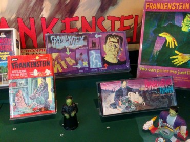 Frankenstein monster collection: Mystery Game, 1963; Flivver, 1964; tricky walker (#27), 1960s; oil painting by numbers (top-right), 1963; puzzle (#28), 1960s