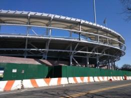 construction at Arthur Ashe USTA