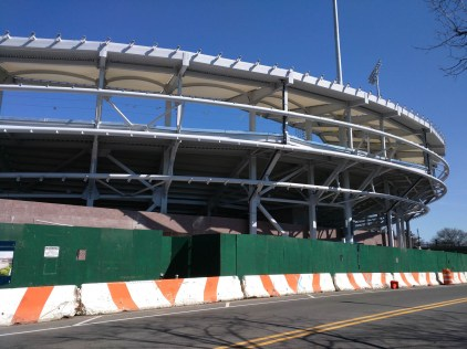 construction at Arthur Ashe USTA
