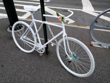 sadly, another Ghost Bike - at Queens Plaza