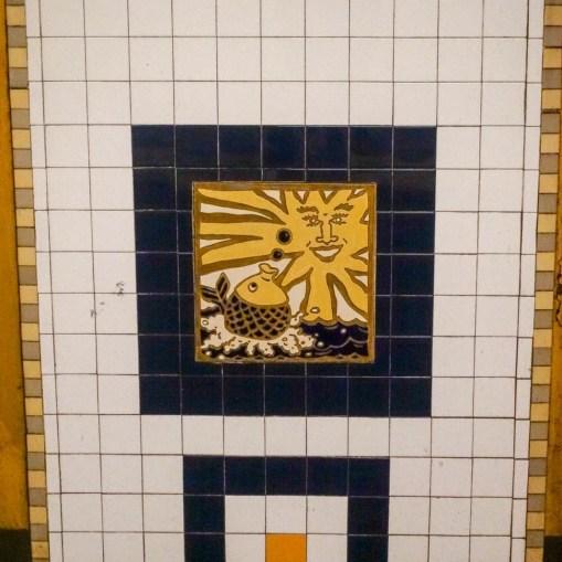 pineapple fish tiles