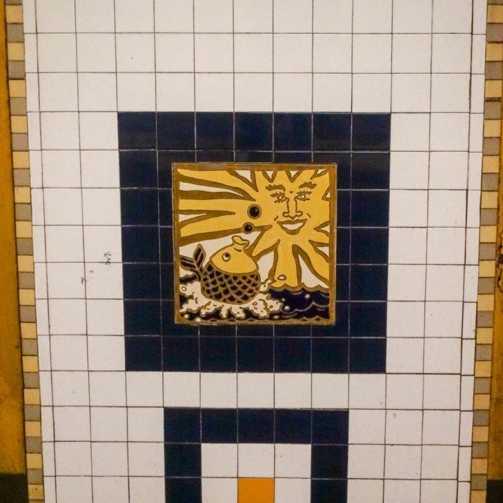 pineapple fish tiles
