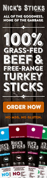 100% Grass-fed Beef and Free Range Turkey Sticks. Order Now.