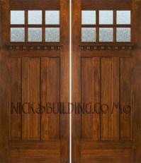 Craftsman style double doors