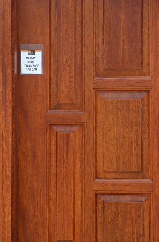 Exterior Door with Venting Sidelite