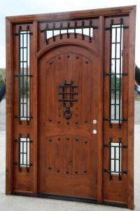 Rustic Doors - Exterior Alder Doors - Arch Top Door