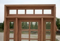 exterior French Doors with sidelights and transom