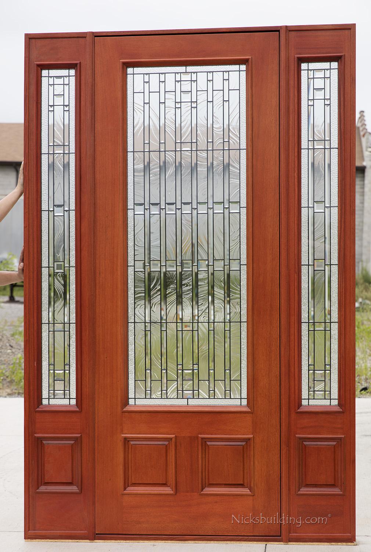 Exterior Mahogany Doors  PFC252 Walnut Stained