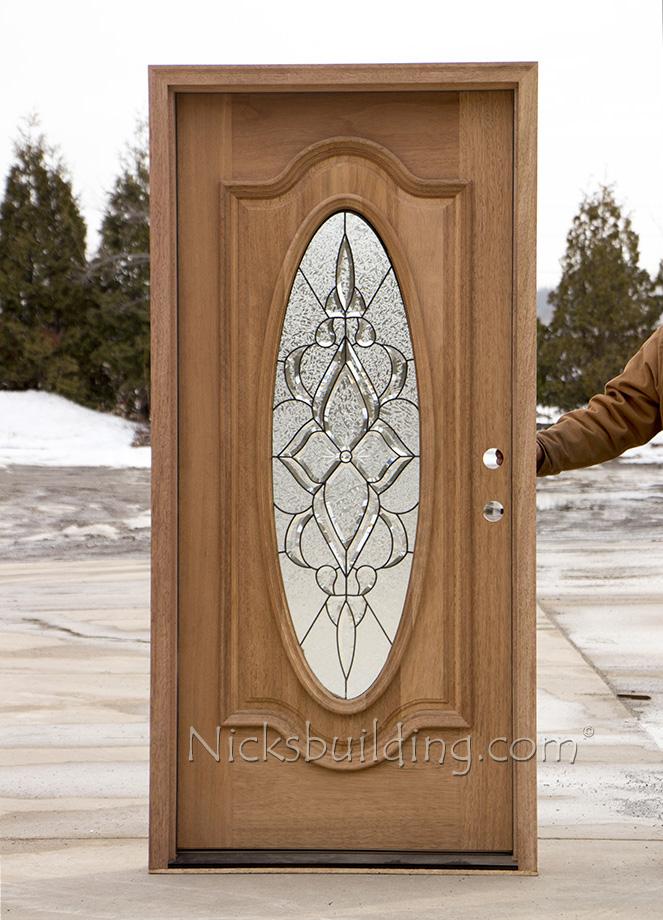 Oval Glass Exterior Mahogany Doors CL106