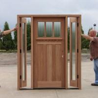Craftsman Door with Venting Sidelites