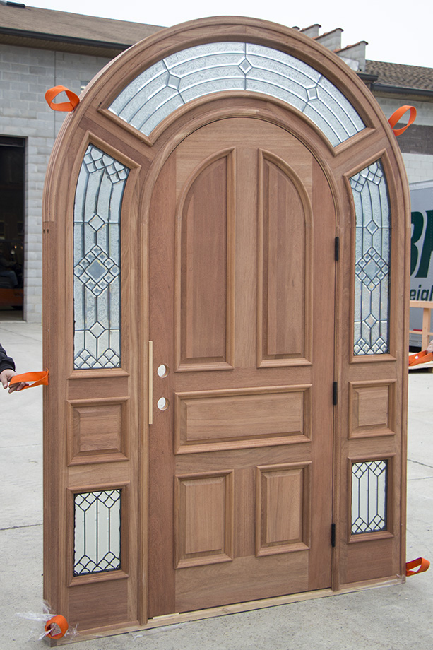 African Mahogany Doors With Modern Glass
