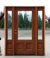 Clear Beveled Glass solid Mahogany Doors