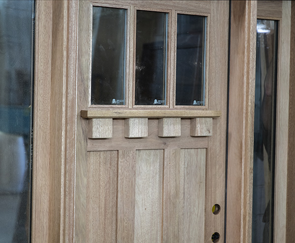 Craftsman Door Oversized Dentil Shelf
