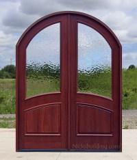 Arch Top Exterior Double Doors