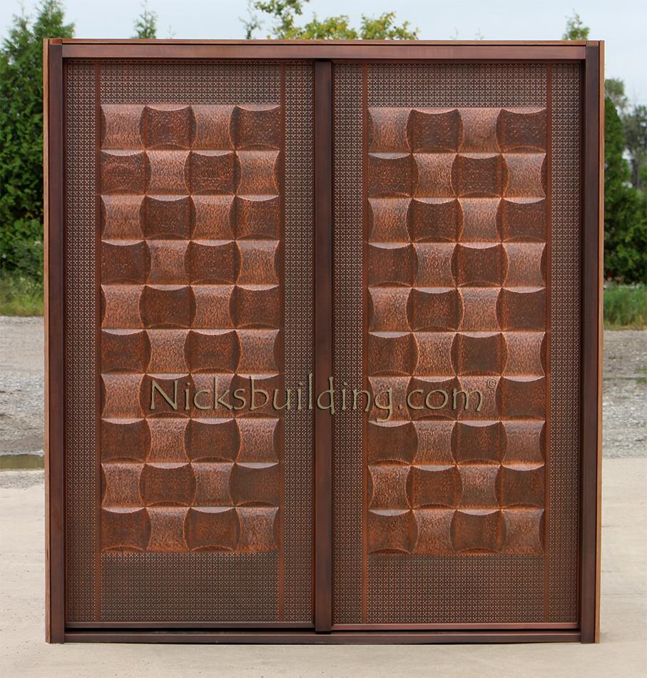 Copper Double Doors Lattice Design