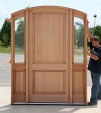 Custom Mahogany Door - Radius Arched Top Door